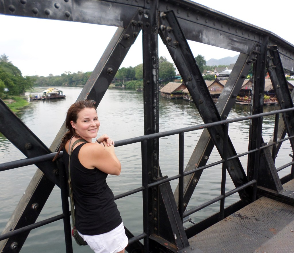 Girl standing on The Bridge on the River Kwai