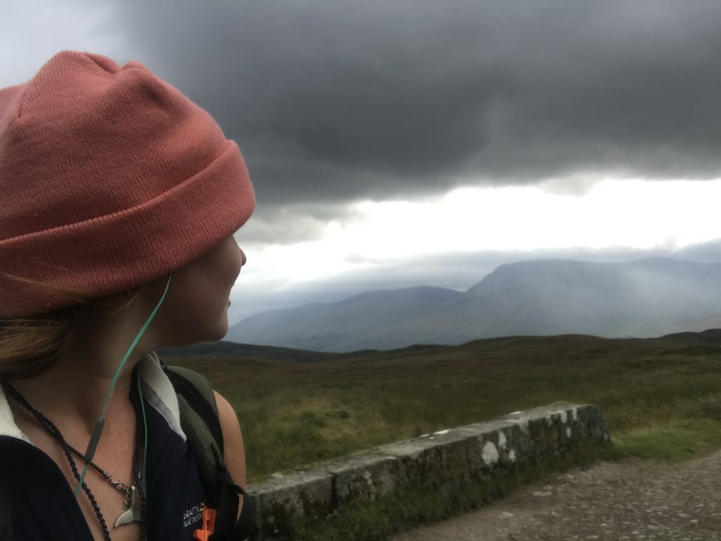 Bad weather on the West Highland Way